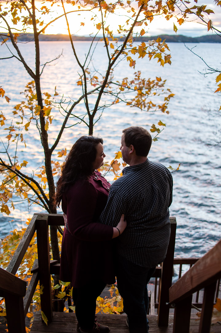 engagement portrait lake champlain