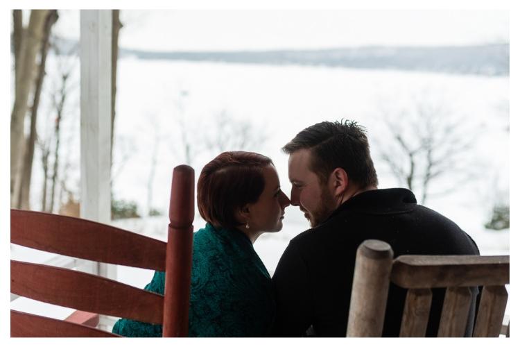 vermont winter engagement portraits