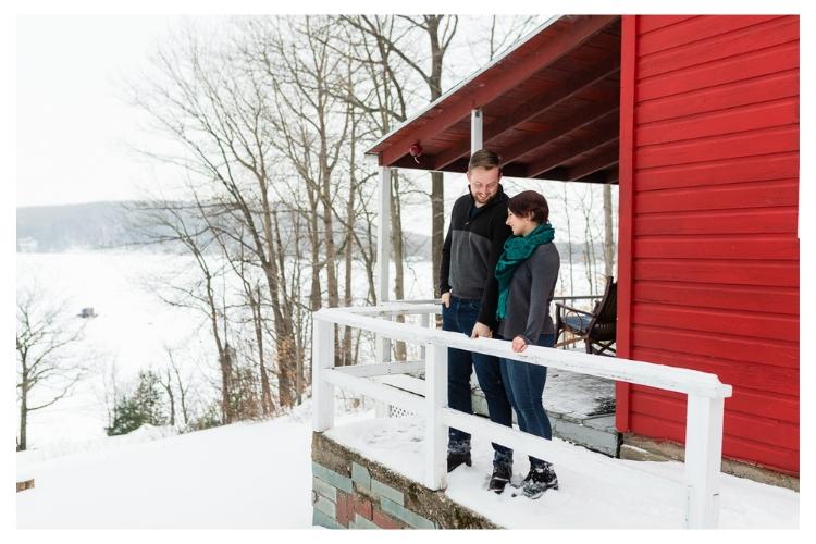 vermont outdoor winter engagement portrait session