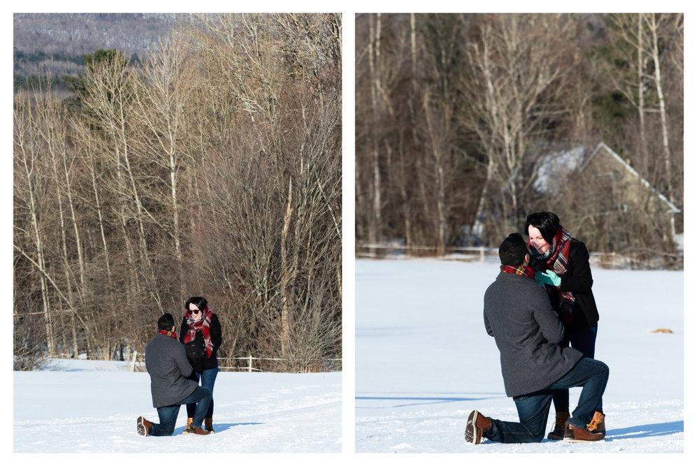 vermont surprise proposal outdoor
