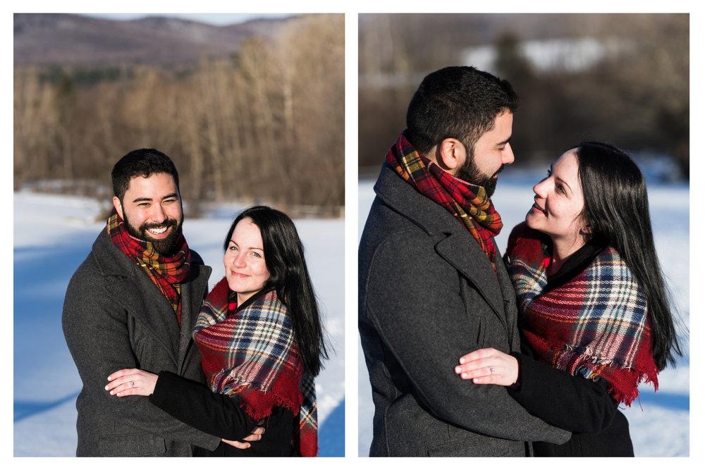 vermont outdoor engagement portrait