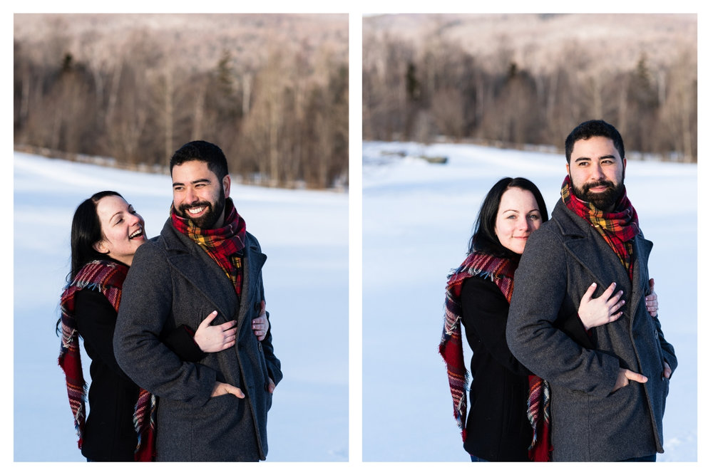 vermont winter couples portrait