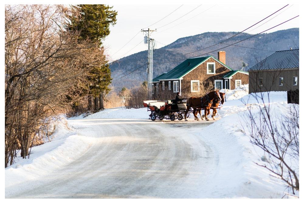 mountain top inn horse drawn sleigh