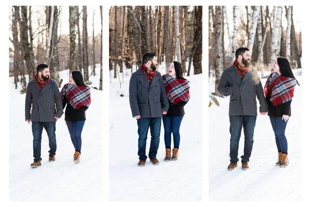vermont winter couples portraits