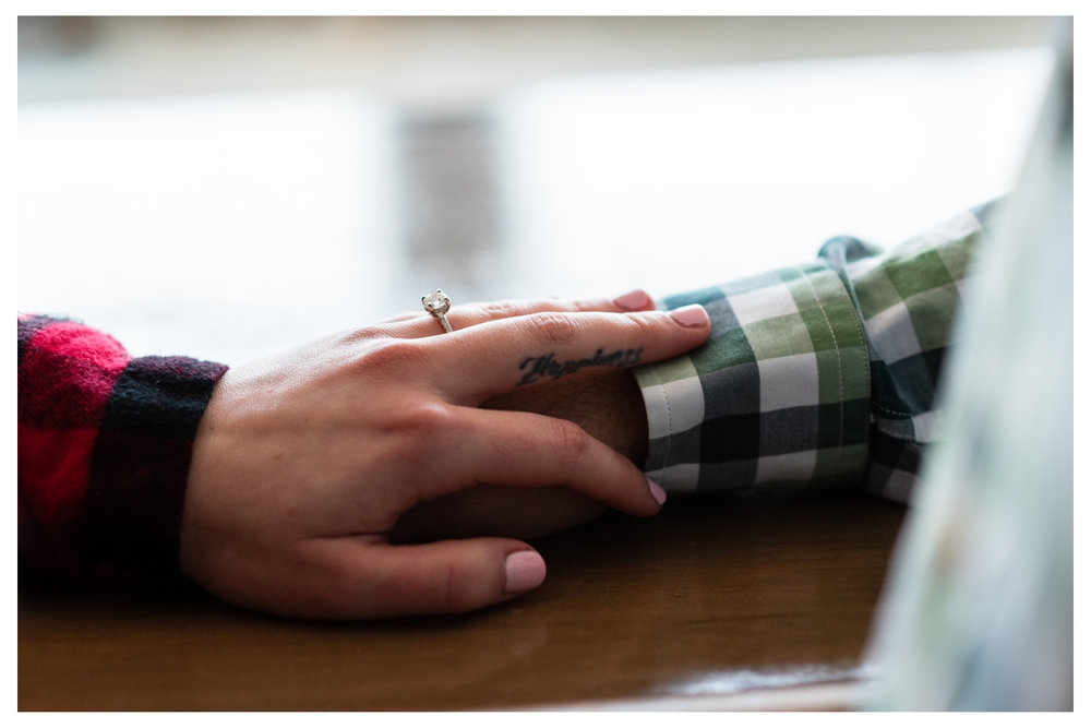 engagement ring and flannel