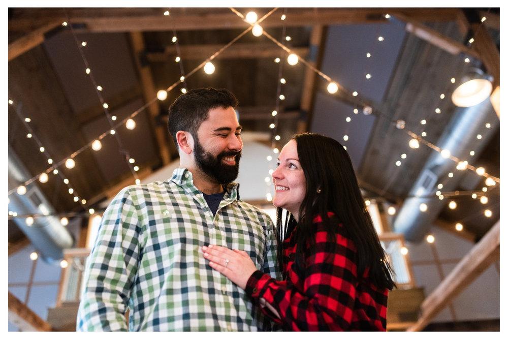 mountaintop inn barn engagement