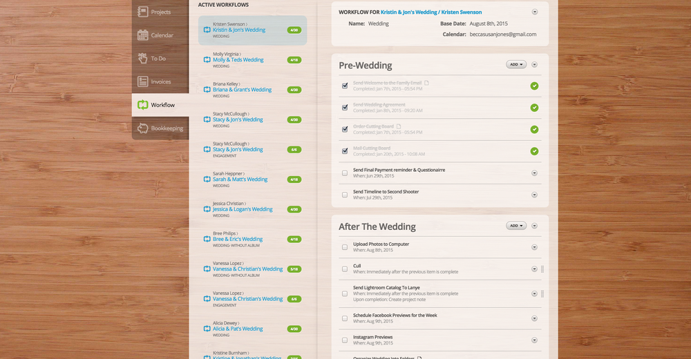 17hats Wedding Workflow Manager