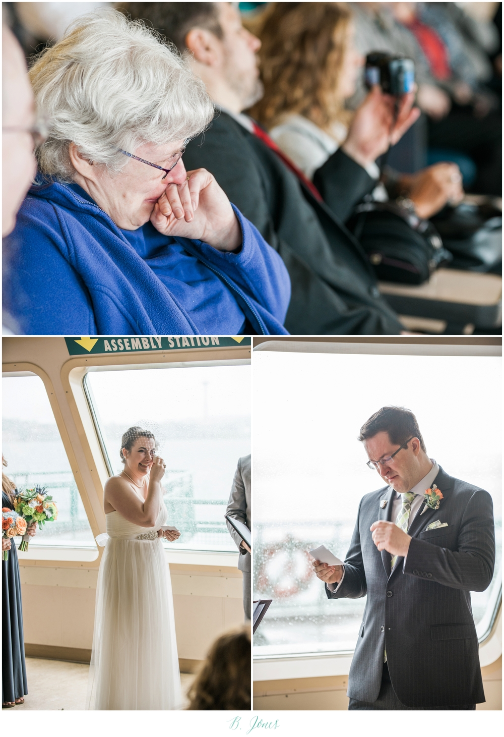 Puget Sound Ferry Wedding Seattle Wedding Photographer Seattle