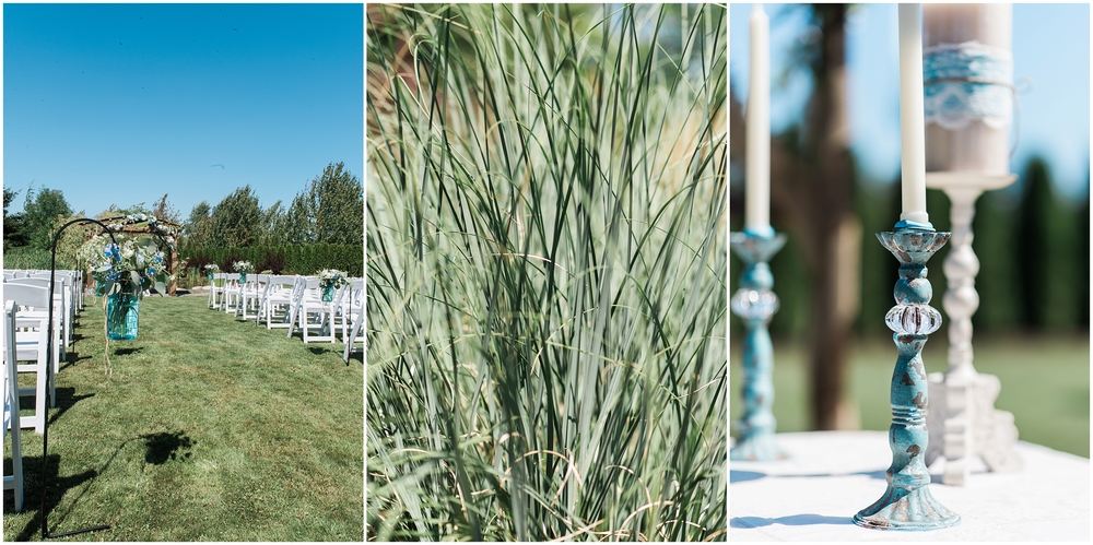 Axton Events White Tent Wedding in Bellingham. Country Chic. Burlap. Lace. Mason Jars. DIY. Backyard Wedding.
