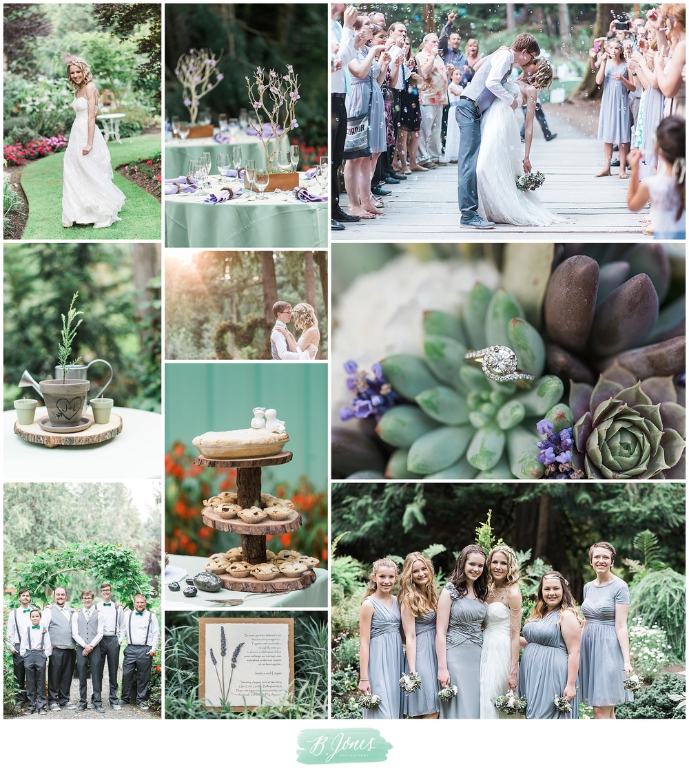 Green Wedding, Vegan wedding, Chain Cape, Off-beat bride, donuts, lawn games, evergreen gardens, wooden vow books, Bellingham wedding photographer, chrysalis inn & spa, Goden hour, pink sunset, bubbles, Heart Arch, Succulent Bouquet, flower crown, rocks, Butterflys, lavendar, creative lettering.