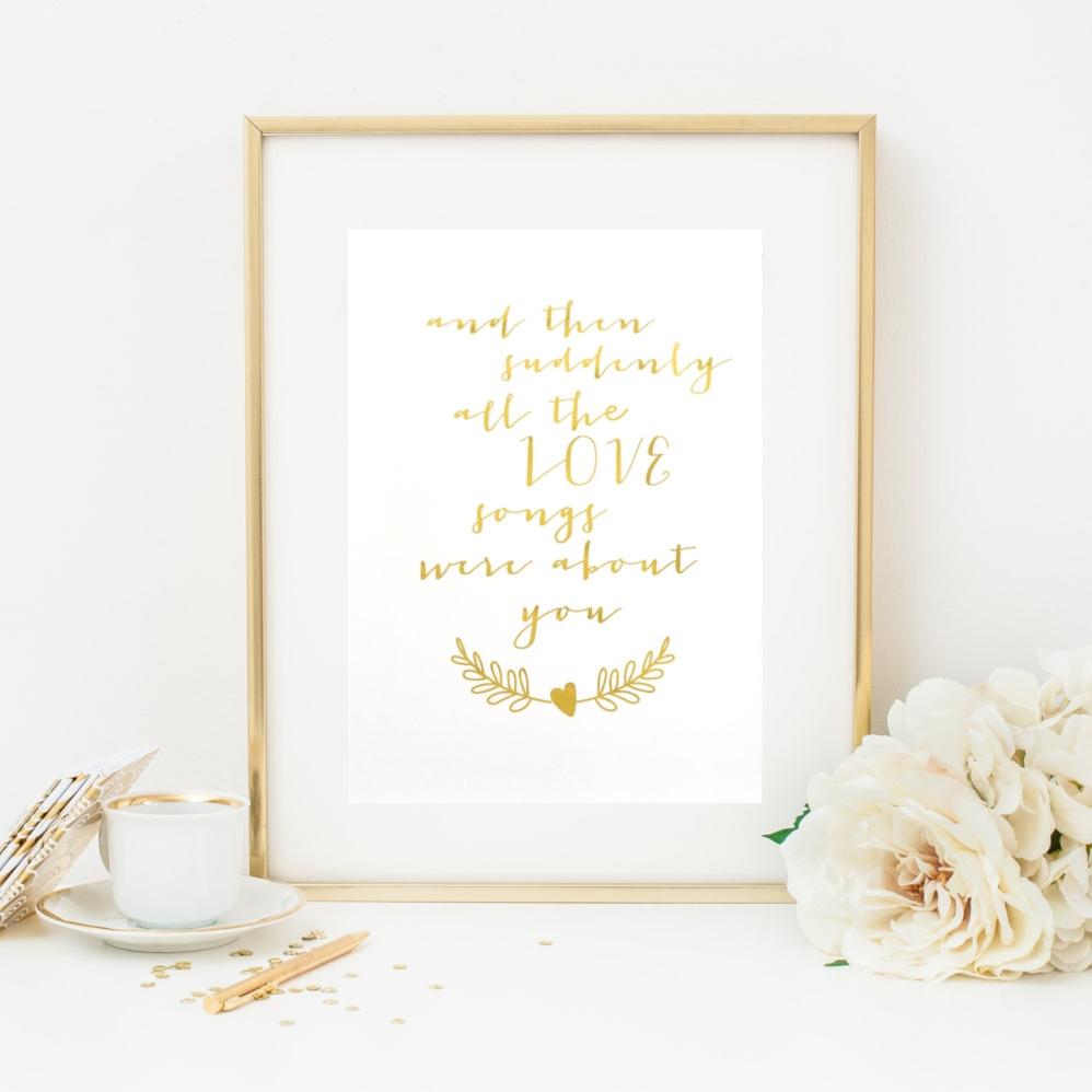 Love Foil Art Print