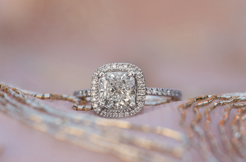 Halo Engagement Ring. Seattle Wedding Photographer. Macro Ring p