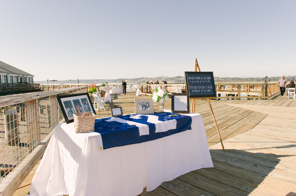 Seahawk Wedding Inspiration- 12th man flag guestbook