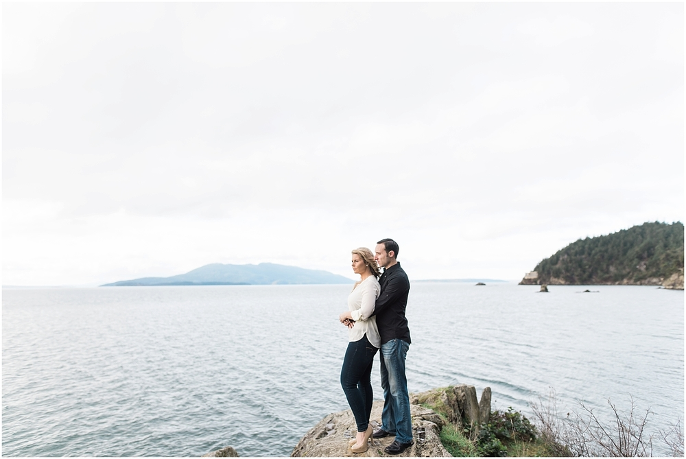 Wanderlust Pacific Northwest engagement Photos. Beach. Rock. Cliffs. Adventure. Larrabee State Park. Trails.