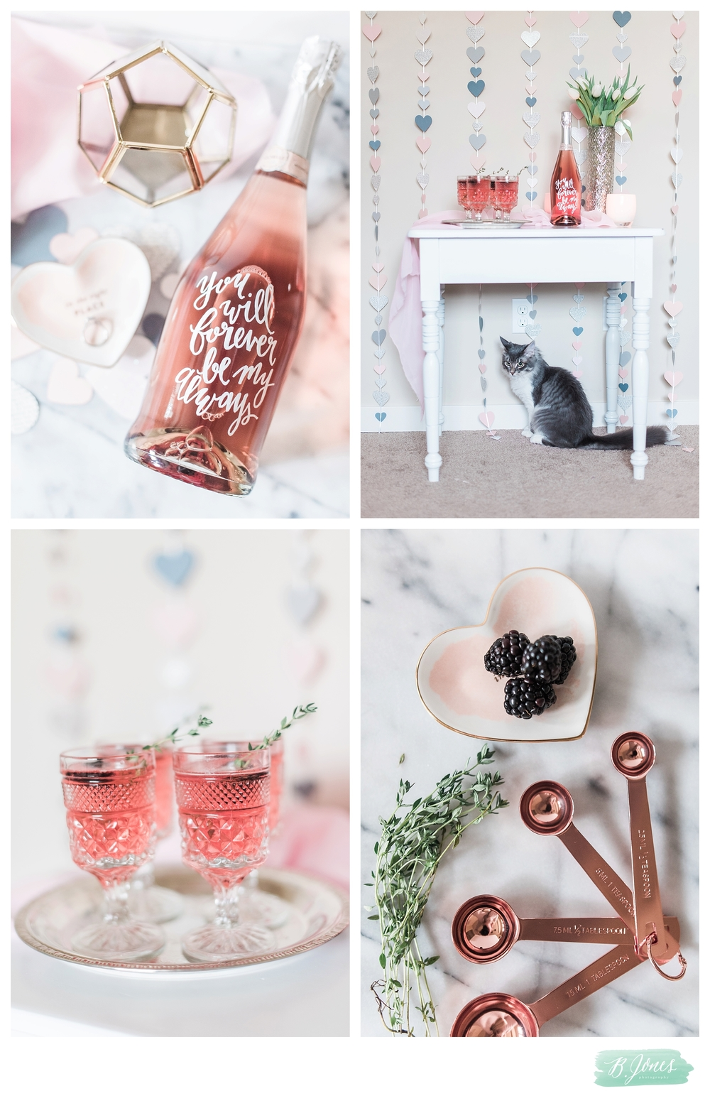 DIY Valentines Day Garland Tutorial & Themed Cocktails