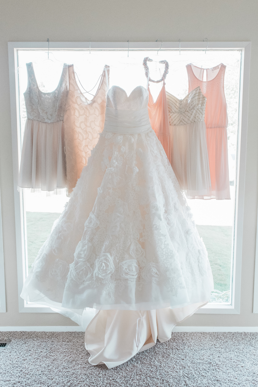 Karma Vineyards Wedding. Blush Bridesmaid Dresses.