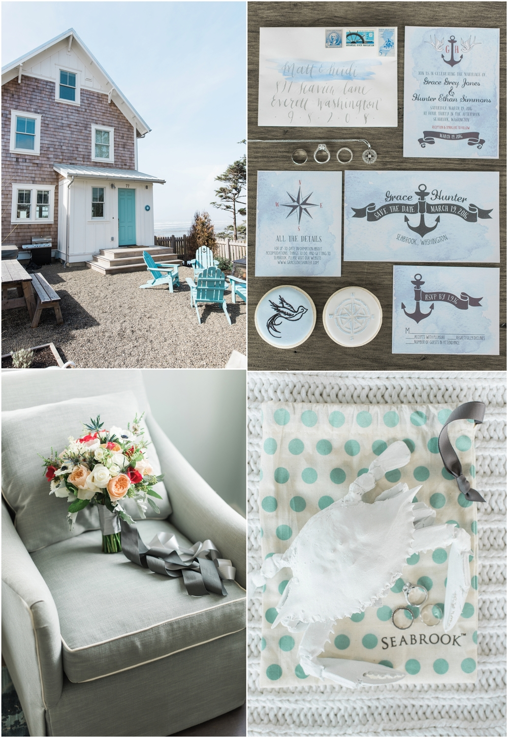 Seabrook nautical fine art wedding. Sandy Side Up Cottage.