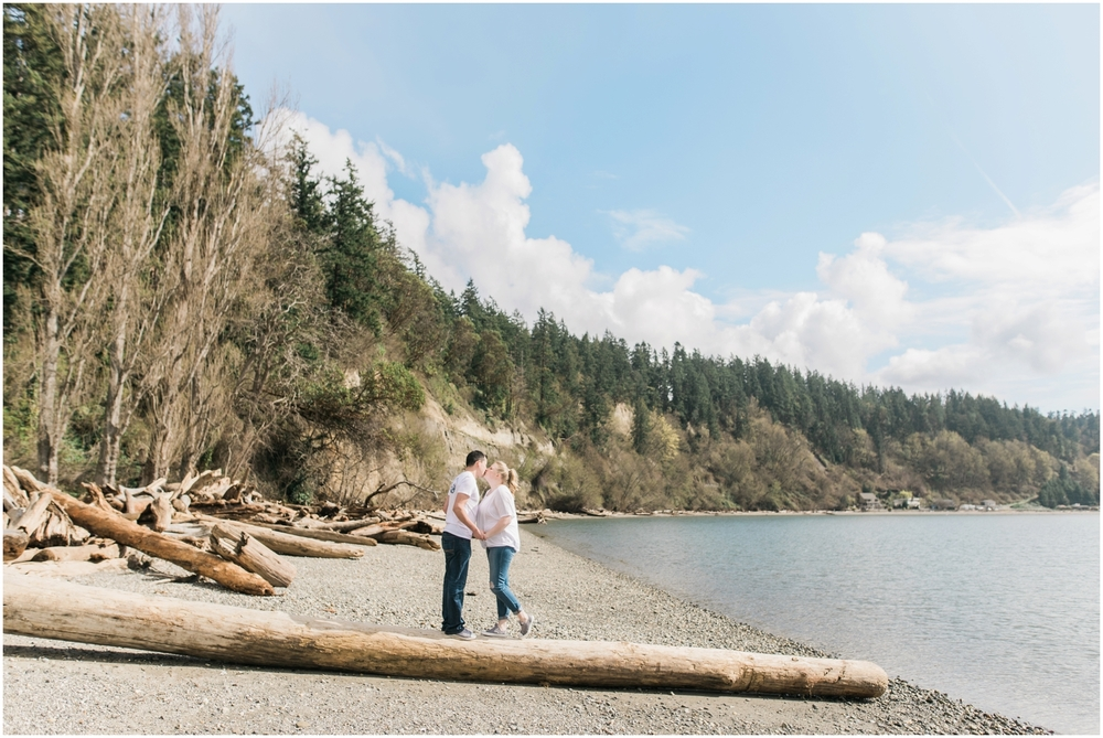 PNW Beach Engagement. Kayak Point. Seattle Engagement. Fuji 400. Fine Art Engagement