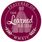 Featured Badge. as Seen on artfully wed, ruffled, wedding chicks
