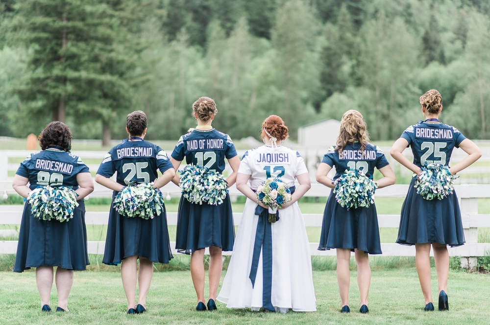 Seahawk vs Steelers Wedding