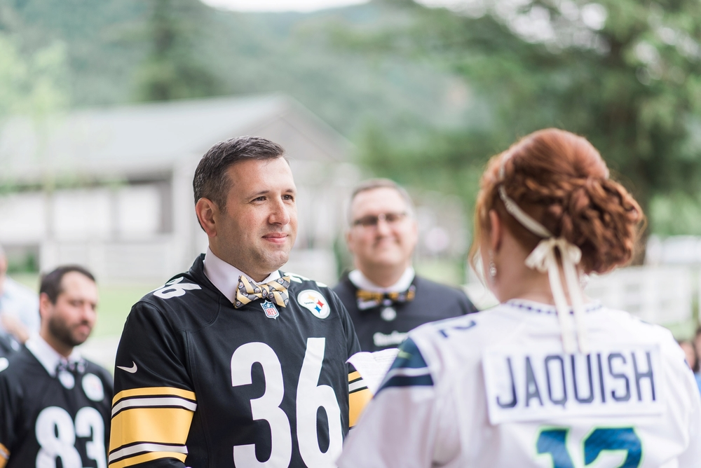 Seahawk vs Steelers Wedding at Reinfire Ranch