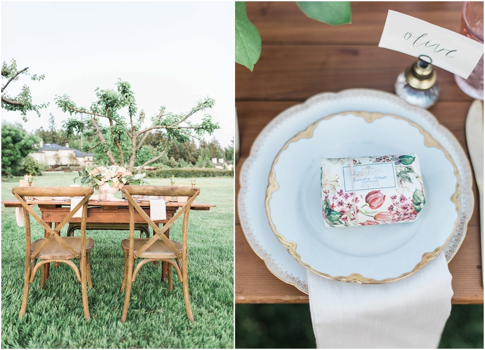 Watercolor and wallpaper wedding inspiration. Seattle Wedding Photographer.