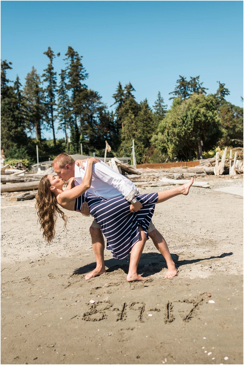 Camano island sandy beach engagement. Driftwood. Bride. Groom. Diamonds. PNW. Seattle Wedding Photographer