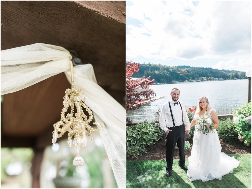 Lake Whatcom Waterfront Tent Wedding. Pablo and Emily. Bellingham Wedding Photographer