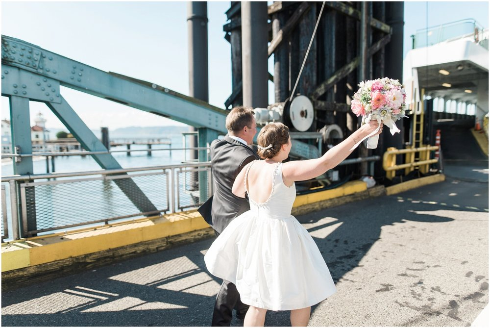 Mukilteo Ferry Wedding. Lighthouse Beach Park