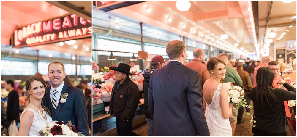 Bri & Brian's Pike Place Market & Golden Garden Bath House Wedding