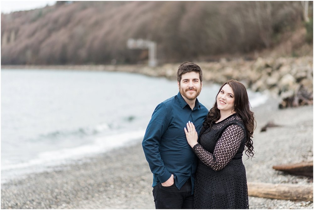 Carkeek Park, Engagement, Winter Engagment, Award Winning Photography, Beach, PNW Engagement, Forest