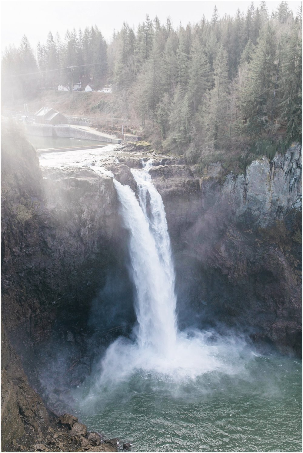 Silvertips, Sqnoqualmie Falls, Engagement, Waterfall, Dog friendly, Spring Engagment