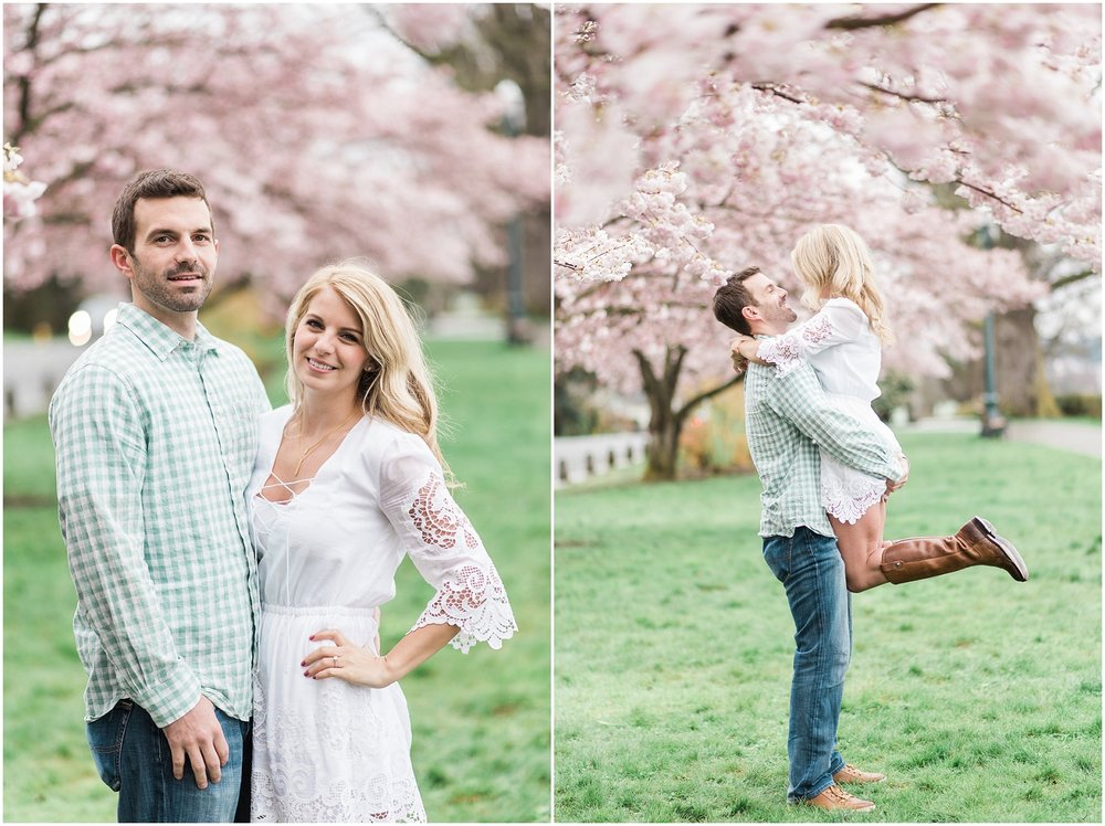 Everett Engagement, Engagment Photographer, Award Winning Photographer, Cherry Blossoms, Pacific Northwest Engagment Photographer