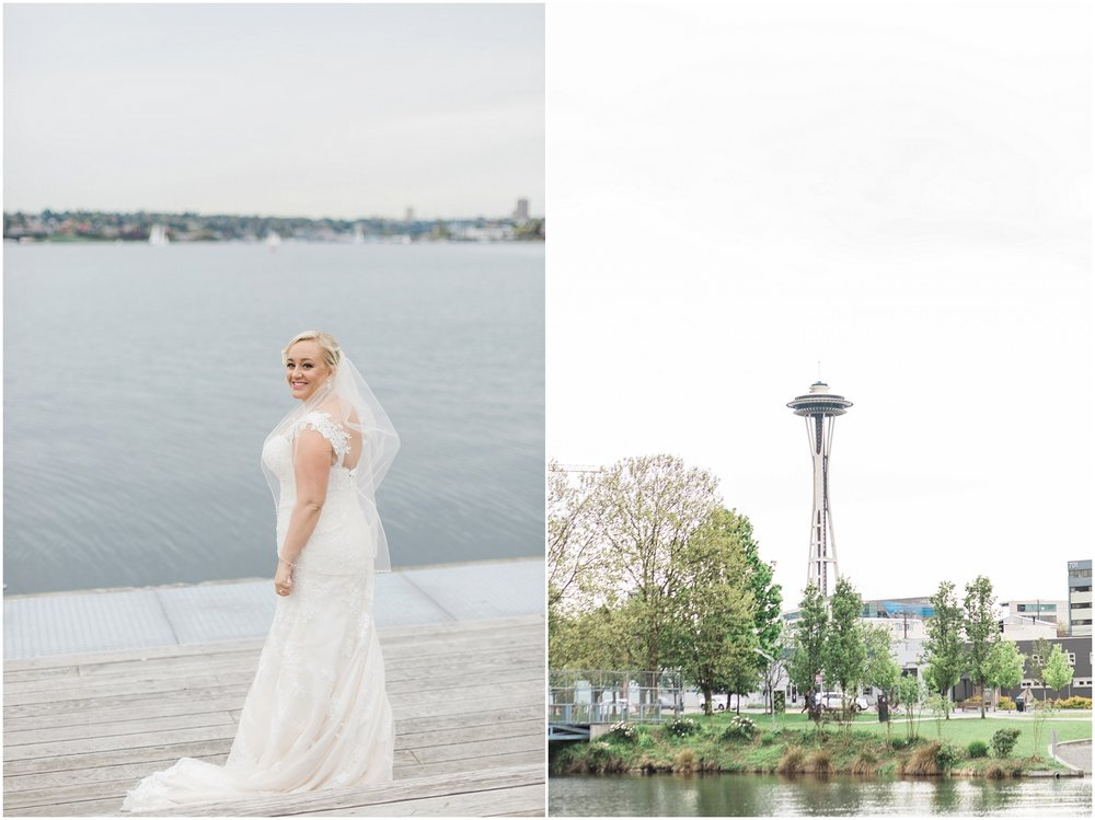 seattle wedding photography, mv skansonia, lake union, gas works park, urban bridal portraits, fine art wedding photography, space needle, pacific northwest wedding photography