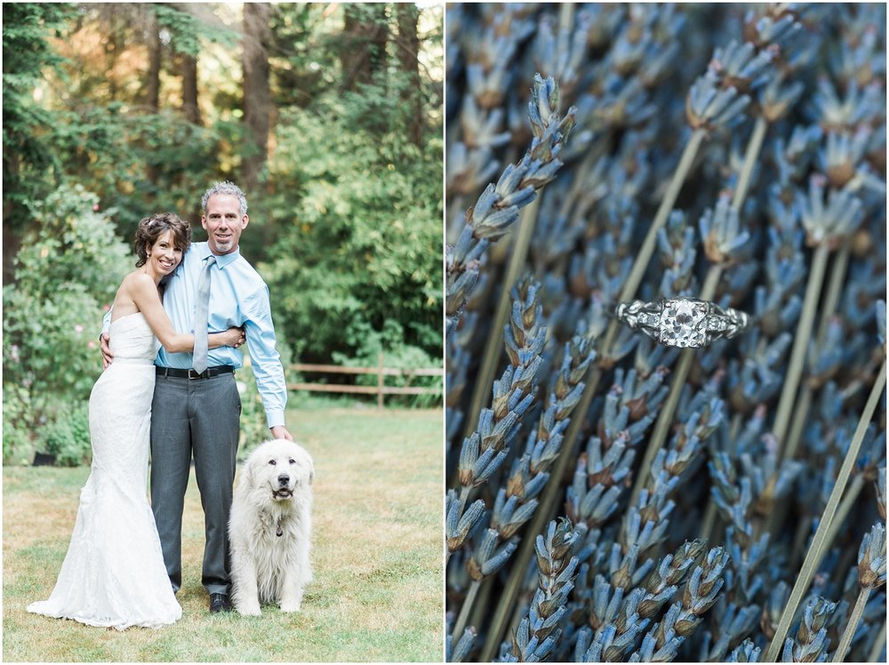rustic wedding, lavendar, PNW, Elopement, dogs, family centered wedding,
