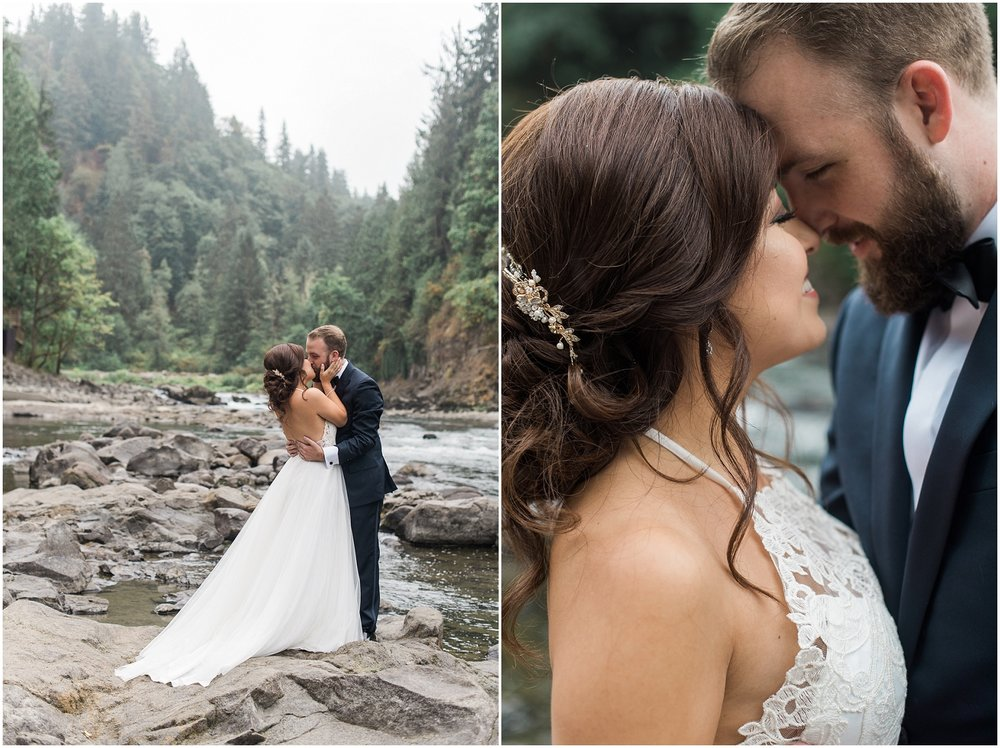 salisha Lodge, Snoqualmie Wedding Photographer, B. Jones Associates, Versace, Jimmy Choo, Waterfalls, Elegant Wedding