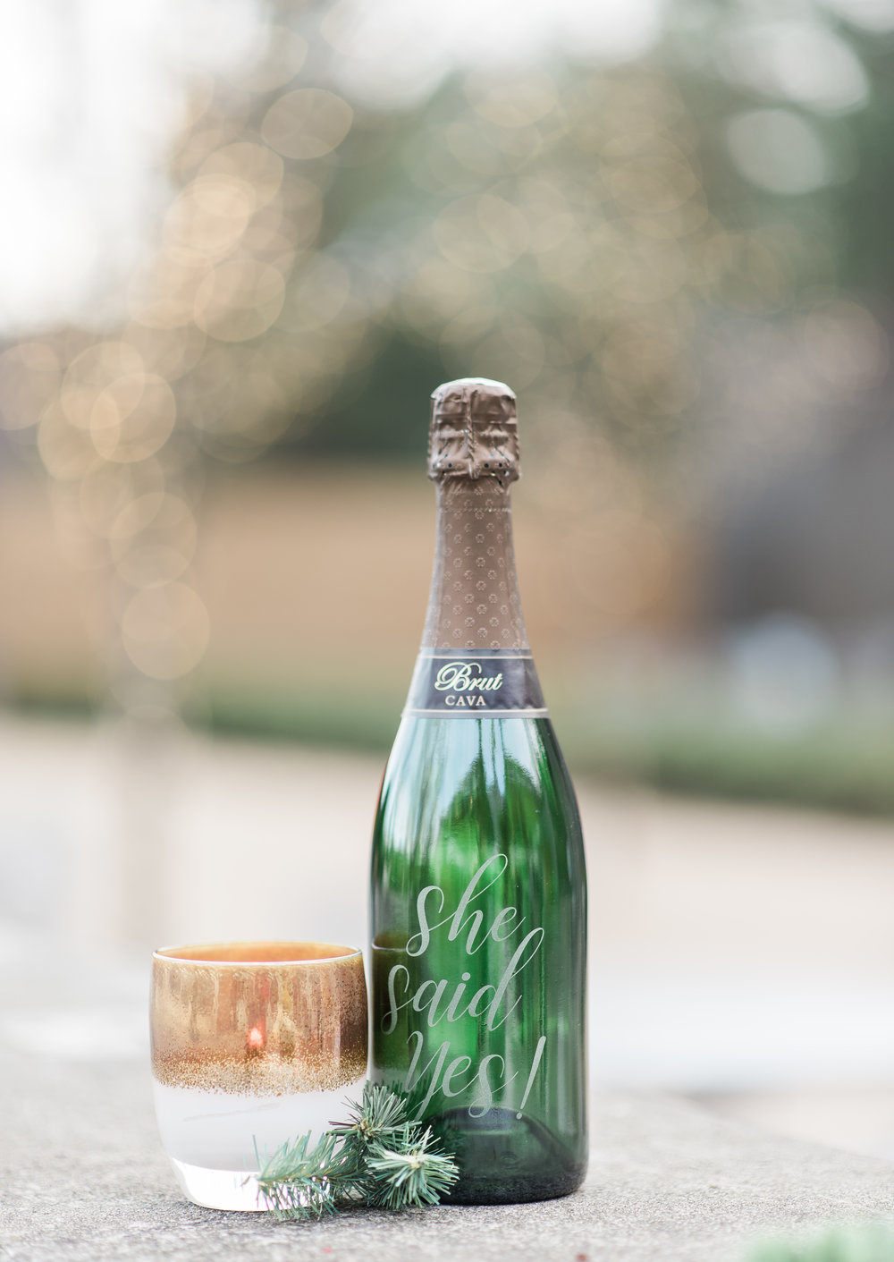 Custom etched wine bottle by The Copper Pine