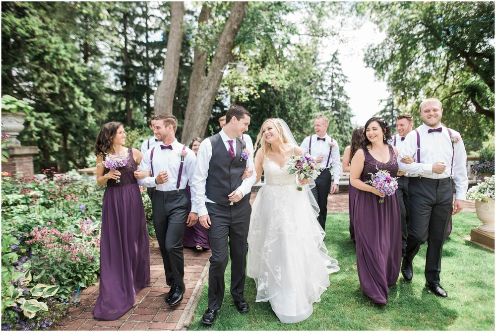 Bellingham Bride, PNW Wedding, Summer Wedding, Lairmont Manor, Snohomish Wedding Photographer, Whatcom Wedding Photographer, Fine Art Wedding Photography, Associate Kimber, Large Bridal Parties, Plum and Gray wedding colors, lavendar, classica wedding