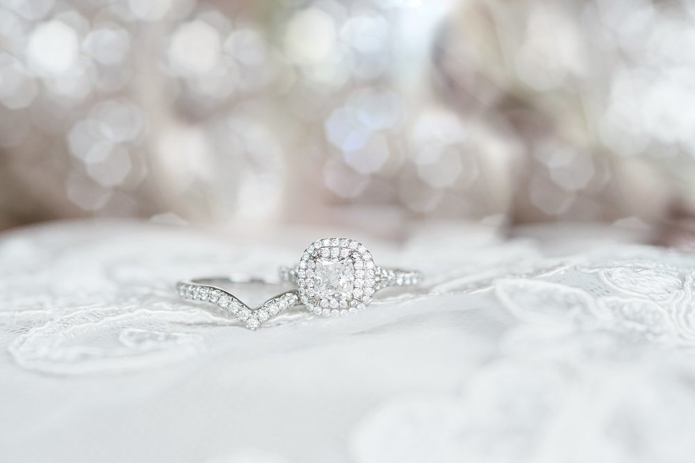 Tiffany jewelry Halo Engagement Ring. Trinity Tree Farm Wedding