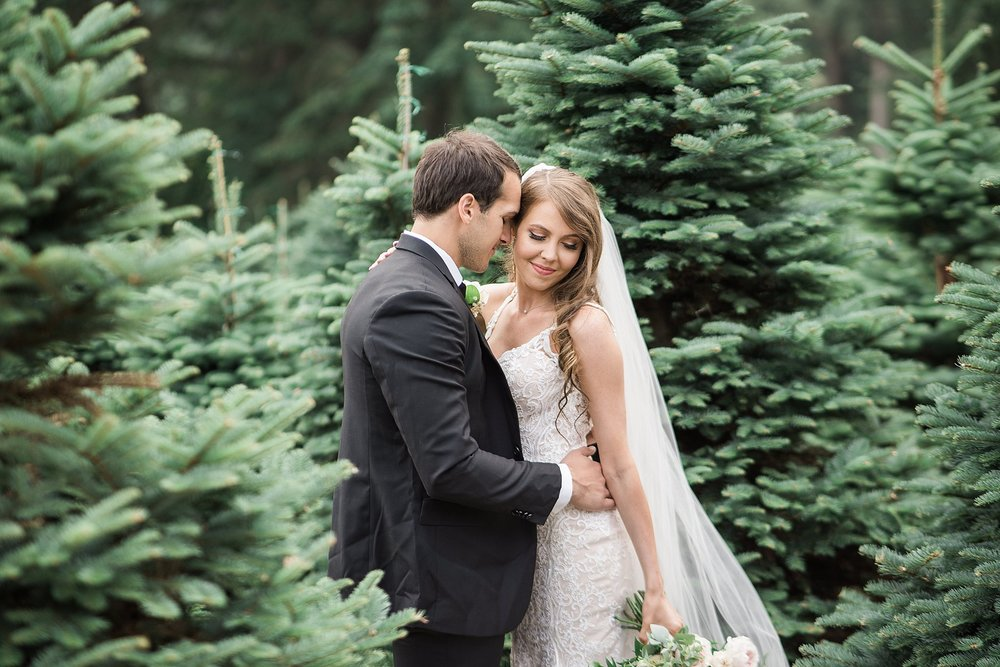 Must have photo amongst the christmas trees on your wedding. Tri