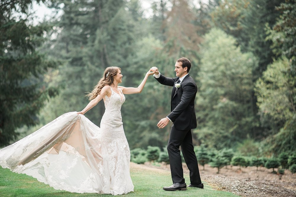 Wedding day spinning dance pose. must have! Trinity Tree Farm We