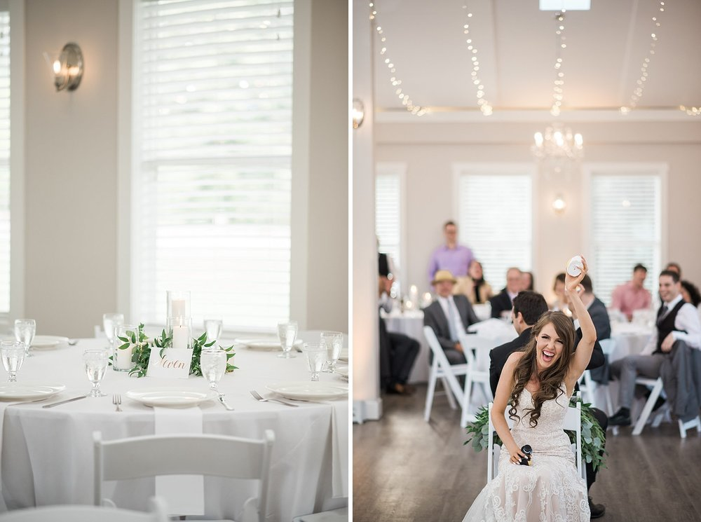 simple and elegant decor. Bright & white reception room with cha