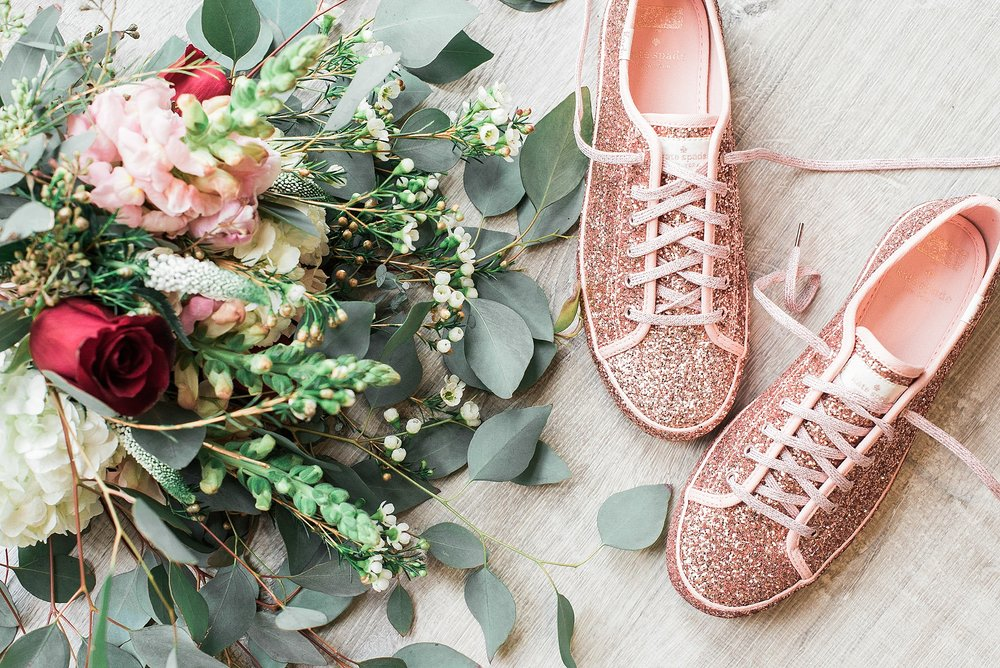Kate Spade Glitter Keds. Wedding sneaker shoes. Pink glitter spa