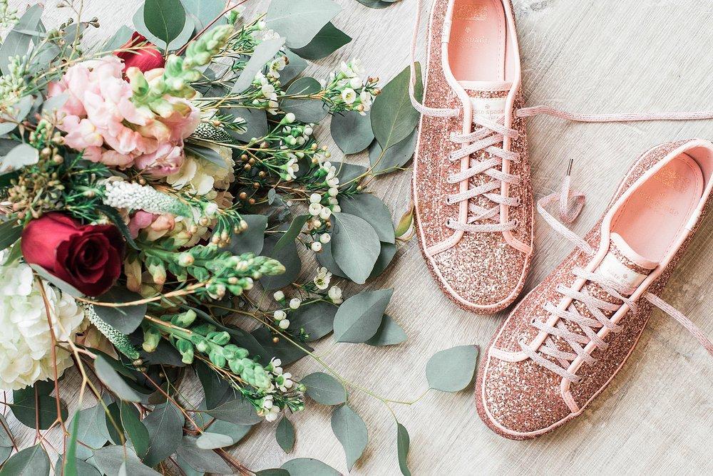 Kate Spade Glitter Keds. Wedding sneaker shoes. Pink glitter spa