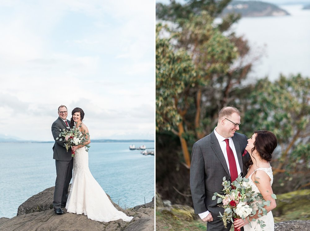 Cap Sante Marina Park. Winter Wedding. Anacortes & Seattle Weddi