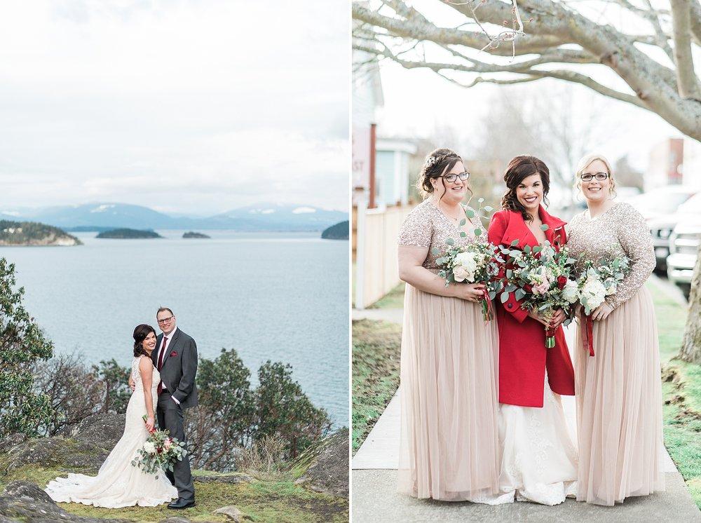 Cap Sante Marina Park. Winter Wedding. Anacortes & Seattle Weddi