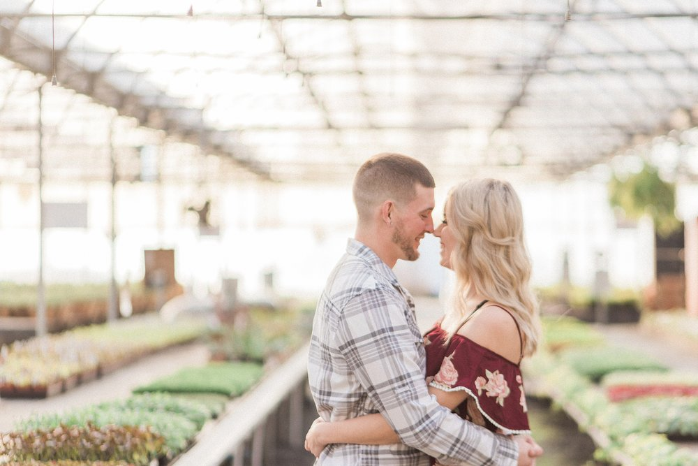 Snohomish Greenhouse nursery engagement session. Sunset. Seahawk