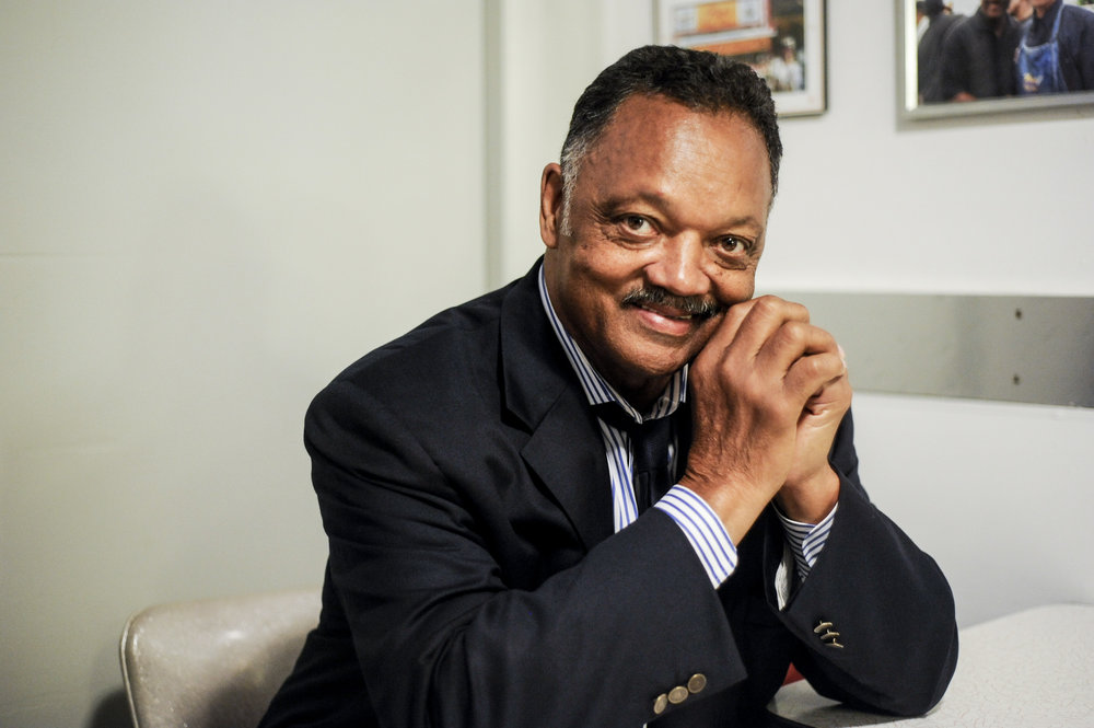 Rev. Jessie Jackson - Rev. Jessie Jackson was adopted by his stepfather and took his surname but kept a close relationship with his birth father. He says that he considers them both as his fathers. Today, he is an activist, political leader, and a minister.[image from Time article]