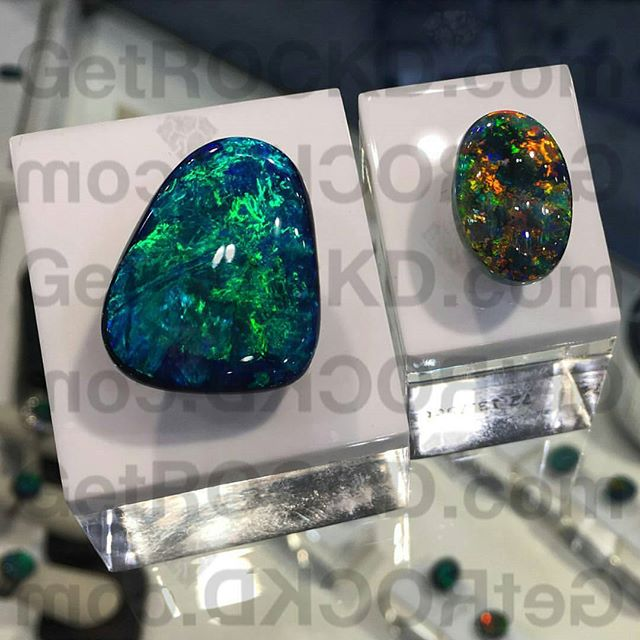 These two remind us of the Hubbles deep space images!  A pair of truly exquisite Australian black opals from Lightning Ridge!  #GetROCKD ◇◇◇ www.GetROCKD.com ◇◇◇ #HK #NYC #London #Tokyo #love #instagood #Paris #instahub #Australia #Luxury #SMILE #beauty #photooftheday #australianblackopal #Emerald #bestintheworld #beautiful #rare #gems #diamonds #finejewelry #igers #opal #amazing #diamond #customjewelry #ruby #hats #instagramhub