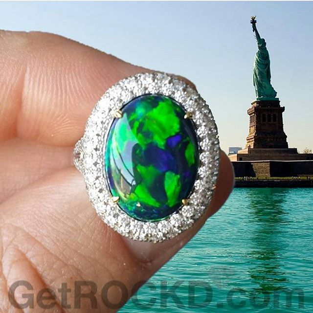 ISN'T SHE GORGEOUS!?! The Australian Black Opal from Lightning Ridge isn't bad either. ;-) ◇◇◇ www.GetROCKD.com ◇◇◇ #opal #CUSTOMJEWELRY #NYC #Australia #rochester #love #instagood #buffalo #instahub #HongKong #Luxury #SMILE #beauty #photooftheday #albany #bestintheworld #beautiful #rare #statueofliberty #diamonds #bronx #igers #gems #amazing #diamond #syracuse #USA #instagramhub #queens #luxurylife